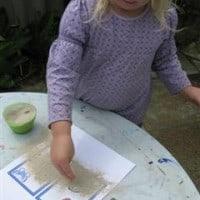 sand paper alphabet