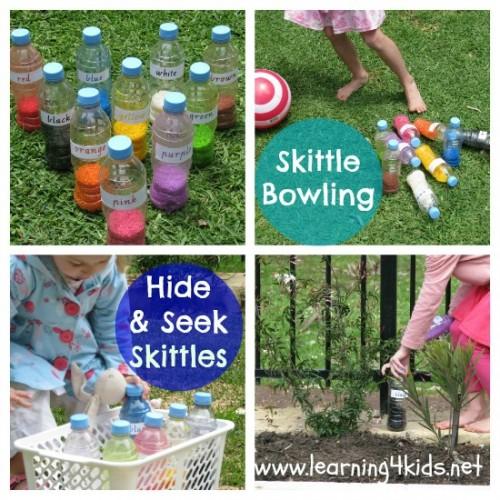 Diy Skittles Amp Games Learning 4 Kids