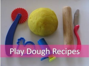 Themed play dough recipes