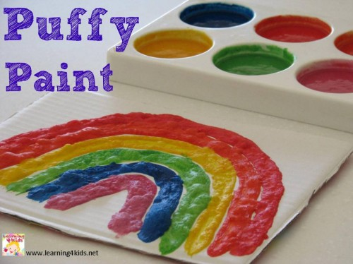 How to make puffy paint?
