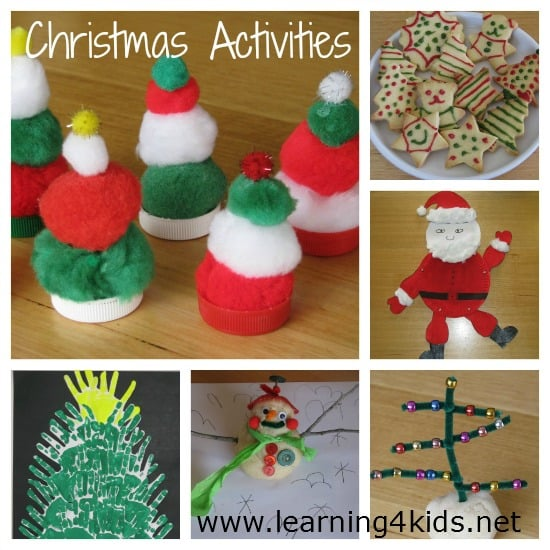 Christmas Activities For Kids.Free Christmas Activities Ebook Learning 4 Kids