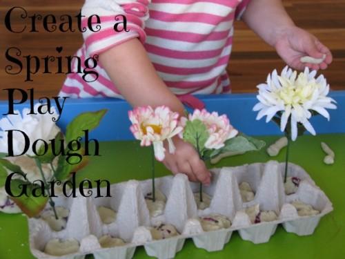 Create a Spring Play Dough Garden