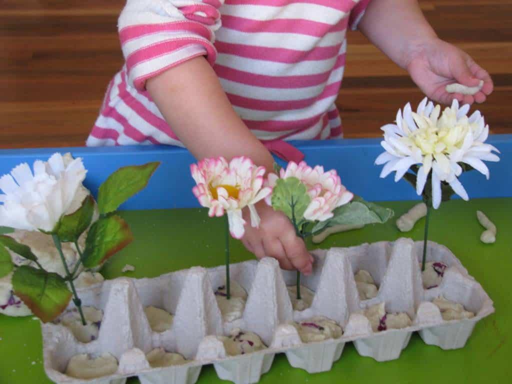 Create A Spring Play Dough Garden Learning 4 Kids