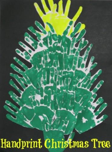 Handprint Christmas Tree Craft