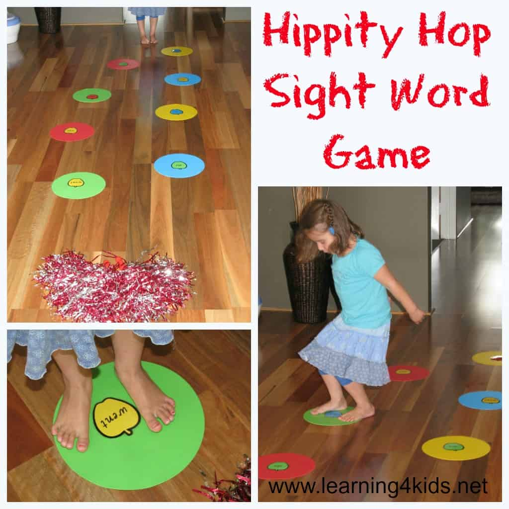 keep up word printable Game  games Hippity way Word sight Miss  as a set was to Sight 4 Hop fun