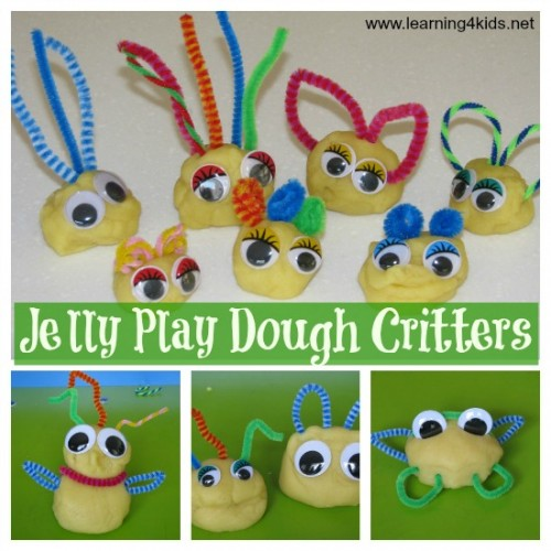 Jelly Play Dough Critters