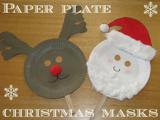 Paper Plate Christmas Masks & Paper Plate Christmas Masks | Learning 4 Kids