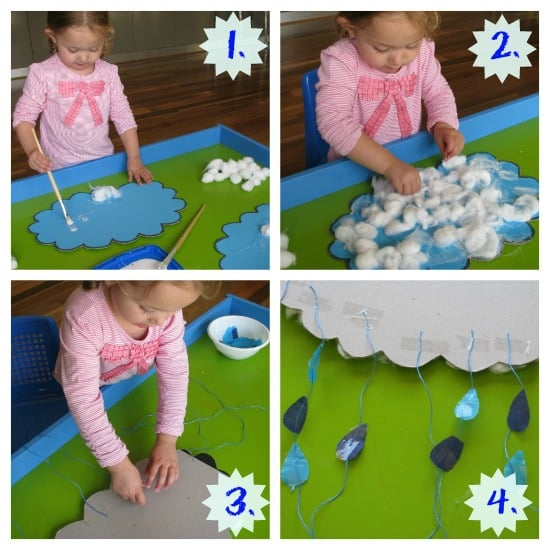 R' is for Rain & Making a Rain Craft | Learning 4 Kids