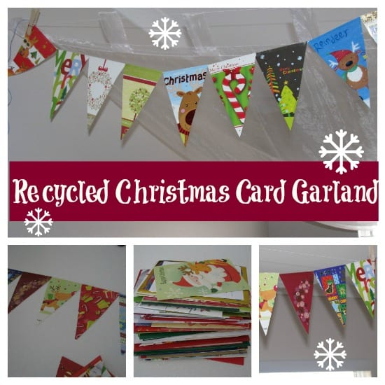 Recycled Christmas Card Garland
