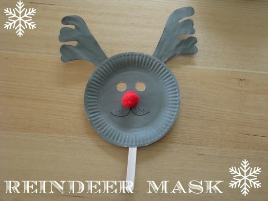 how to make a reindeer mask & Paper Plate Christmas Masks | Learning 4 Kids
