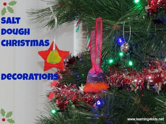 Salt Dough Christmas Decorations Learning 4 Kids