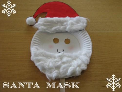 how to make a santa mask