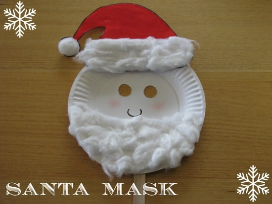 how to make a santa mask & Paper Plate Christmas Masks | Learning 4 Kids