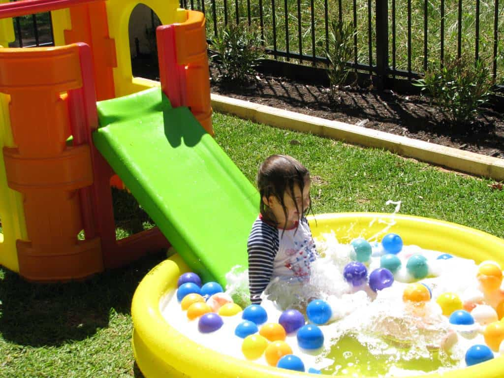 back yard water park learning 4 kids