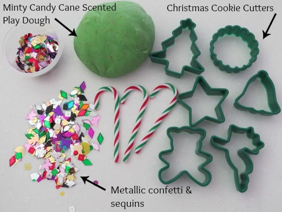 Minty Candy Cane Scented Play Dough Ornaments | Learning 4 Kids
