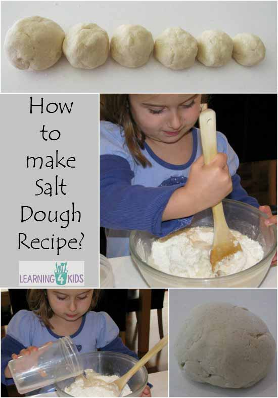 How to make Salt dough recipe - super simple with printable recipe