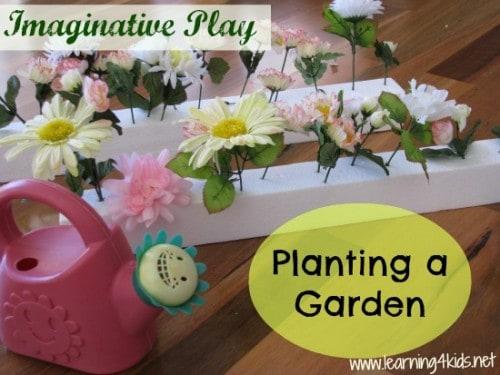 garden pretend play ideas