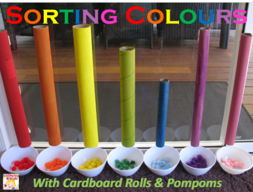 Sorting Colours with Cardboard Rolls 1