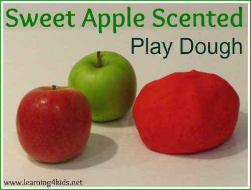 Sweet Apple Scented Play Dough Recipe