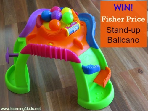 WIN Fisher Price Stand-up Ballcano 1