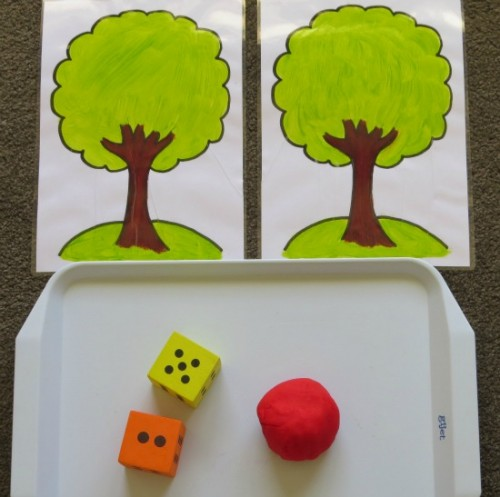 Apple Play Dough Mats 2