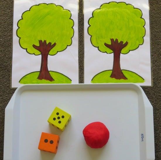 Apple Play Dough Mats for Maths