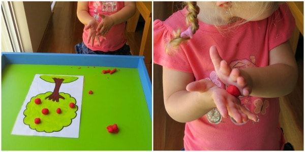 Fine Motor Development with Play Dough 4