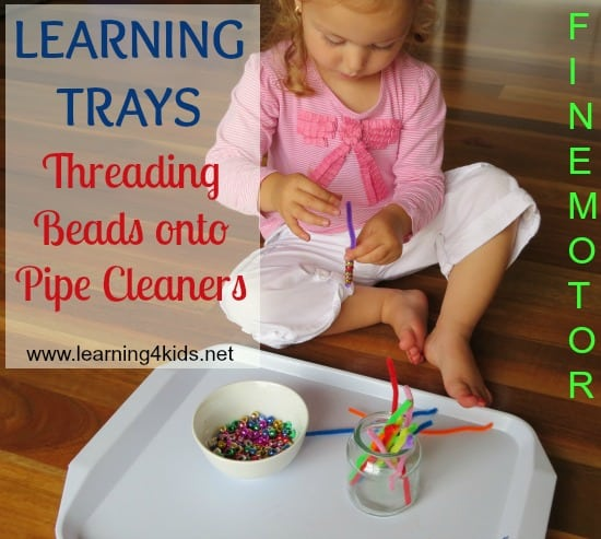 Fine Motor Learning Tray Activities