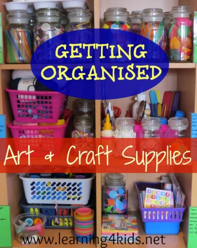 Getting Organised - Art and Craft