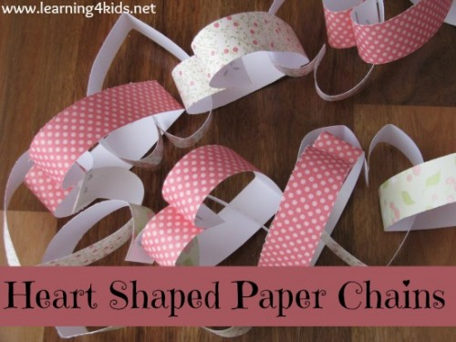 Heart Shaped Paper Chains