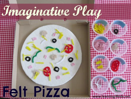 Imaginative Play Felt Pizza Learning 4 Kids
