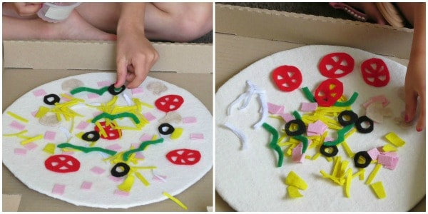 Imaginative Play Felt Pizza Topping 2