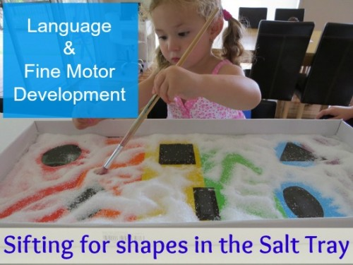learning benefits of a salt tray