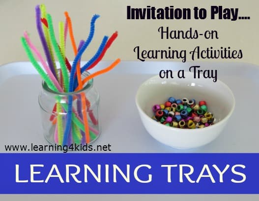 Learning Trays Learning 4 Kids