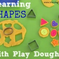 Learning shapes with play dough