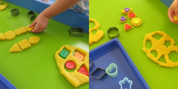 Let's Learn with play dough and shapes