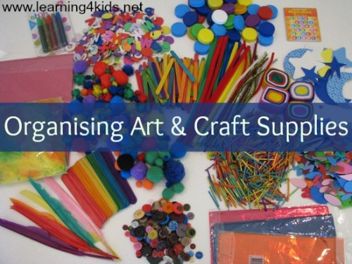 Organising Art & Craft Supplies