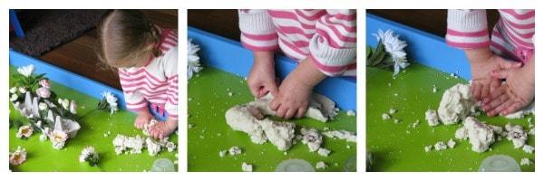 Sensory Play with Spring Play Dough 1