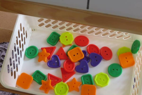 Sticky Easel Play Prompt Sorting Shapes Learning 4 Kids