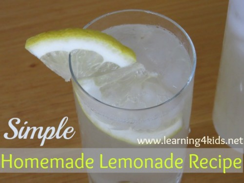 Homemade Lemonade Recipe