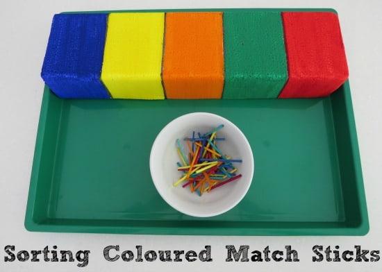 Sorting Match Sticks