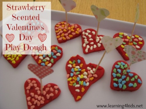 Strawberry Scented Play Dough