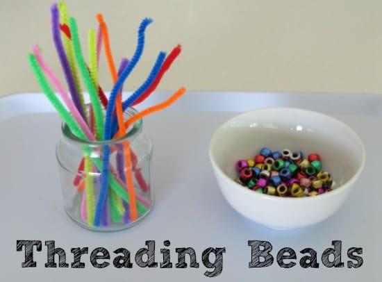 threading bead fine motor activity for kids