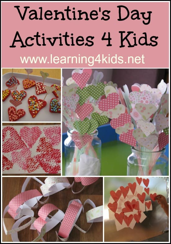 Valentine S Day Activities For Kids Learning 4 Kids