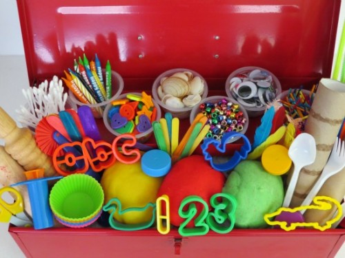 What to put into you play dough toolbox