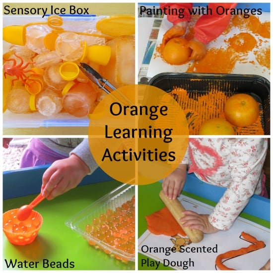 learning orange activities - Color Activity For Preschool
