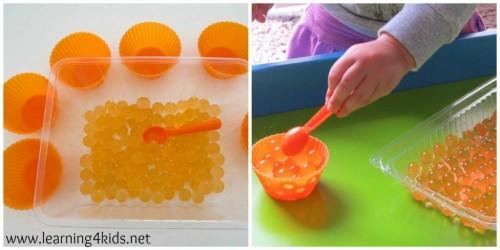 Orange Water Beads 1
