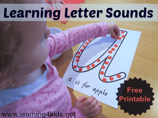 letter a activities learning