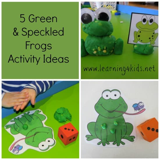 5 Green Speckled Frogs Activities