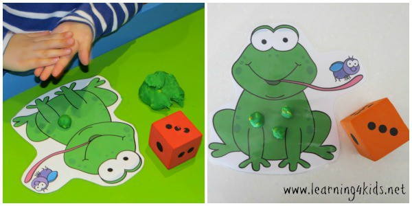 5 Speckled Frogs Counting Game